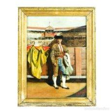 "Arte: L. CHACÓN (SIGLO XIX). ÓLEO SOBRE LIENZO. ""TORERO"". Lote 206259646"