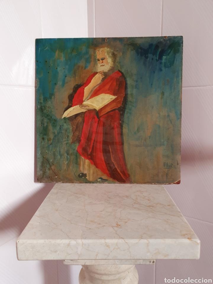 PINTURA REALIZADA AL OLEO SOBRE VIEJO PANEL FIRMADO ALBOR 74 (Arte - Pintura - Pintura al Óleo Antigua sin fecha definida)
