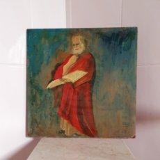 Arte: PINTURA REALIZADA AL OLEO SOBRE VIEJO PANEL FIRMADO ALBOR 74. Lote 160297270