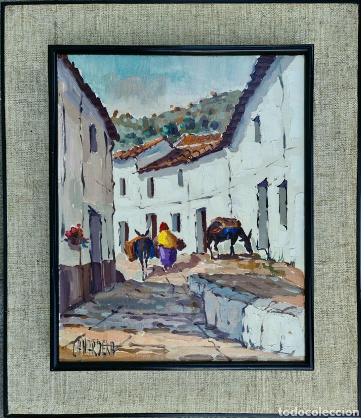 Arte: Pino la Vardera, preciosa pintura vintage de Torremolinos, firmada. - Foto 2 - 206274846