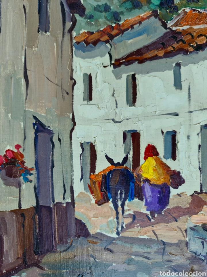 Arte: Pino la Vardera, preciosa pintura vintage de Torremolinos, firmada. - Foto 3 - 206274846