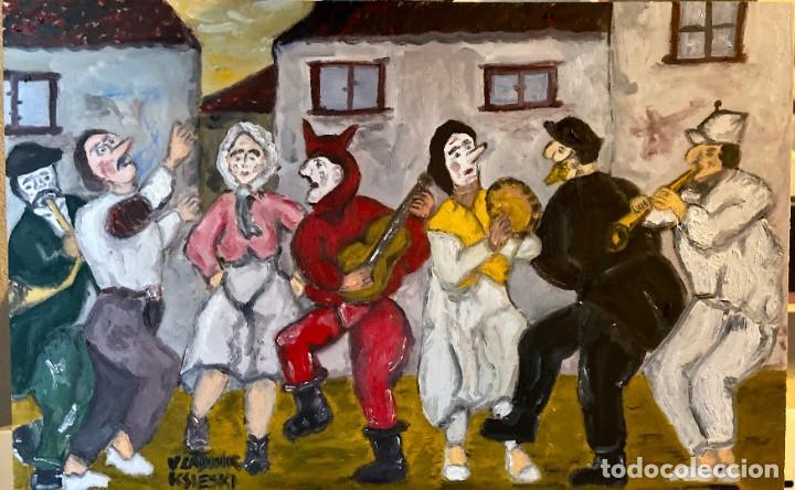 FESTA DE PUEBLO SARDINAS GRANDE (Arte - Pintura Directa del Autor)