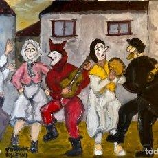 Arte: FESTA DE PUEBLO SARDINAS GRANDE. Lote 206282642