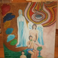 Art: OLEO SURREALISTA MANUEL BUENO 1988. Lote 206292701
