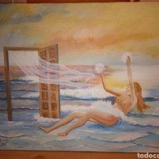 Art: OLEO SURREALISTA MANUEL BUENO 1988. Lote 206293356