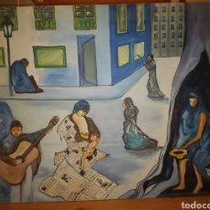 Art: OLEO SURREALISTA MANUEL BUENO 1988. Lote 206294233
