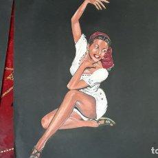 Arte: LOTE DE TRES TEMPERAS ,O WASH AÑOS 40. Lote 206299643