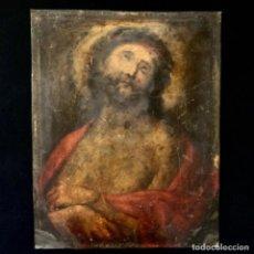 Arte: ÓLEO SOBRE COBRE ECCE HOMO SIGLO XVIII 23,8X18,8CM. Lote 206314288