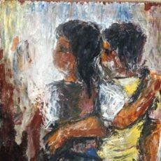 Arte: ANONIMO. OLEO SOBRE MADERA. PERSONAJES. Lote 206324053