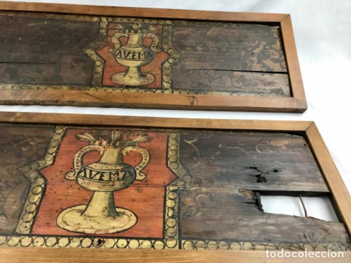 Arte: MAGNIFICA PAREJA DE ARTESONADOS POLICROMADOS GÓTICOS TABLA GÓTICA ARTESONADO SIGLO XIV XV - Foto 5 - 206503690