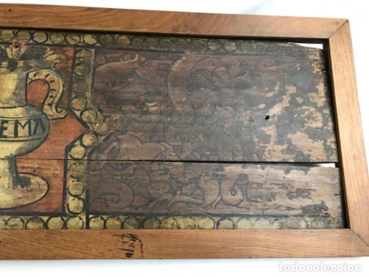 Arte: MAGNIFICA PAREJA DE ARTESONADOS POLICROMADOS GÓTICOS TABLA GÓTICA ARTESONADO SIGLO XIV XV - Foto 11 - 206503690