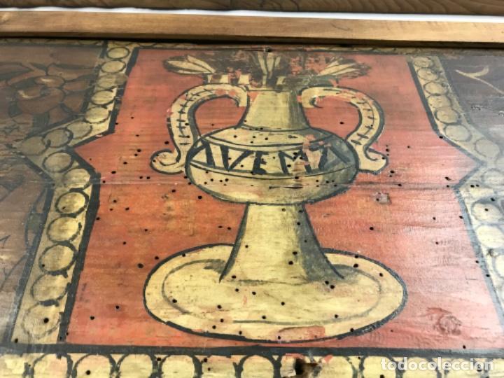 Arte: MAGNIFICA PAREJA DE ARTESONADOS POLICROMADOS GÓTICOS TABLA GÓTICA ARTESONADO SIGLO XIV XV - Foto 12 - 206503690