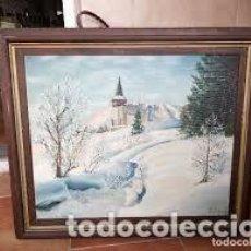 Arte: PRECIOSO PAISAJE DE INVIERNO PINTADO AL OLEO SOBRE LIENZO FIRMADO POR .R. KOHLE. Lote 206506581