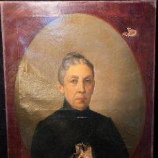 Art: RETRATO PARA RESTAURAR AUGUSTO DE QUESADA 1890. Lote 206572808