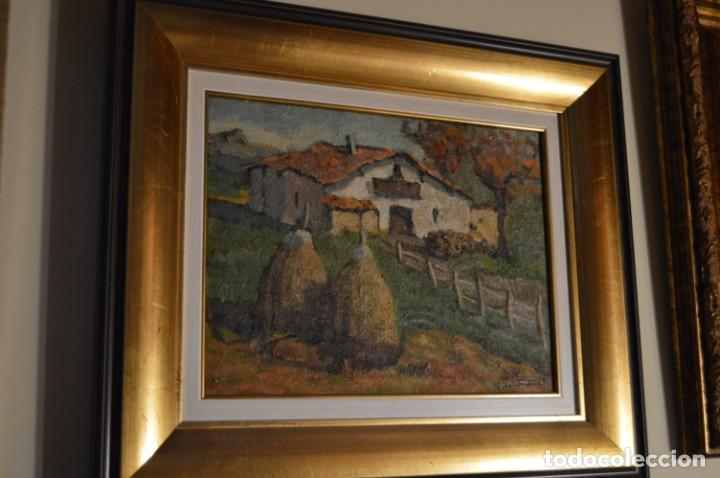 JUAN EGUIGUREN( CASERIO VASCO) (Arte - Pintura - Pintura al Óleo Contemporánea )