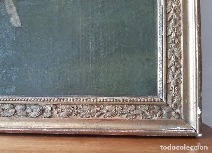 Arte: Escuela Francesa. Gran Oleo sobre Lienzo. Representa la muerte del Príncipe Poniatowski 1813 - Foto 10 - 206755152