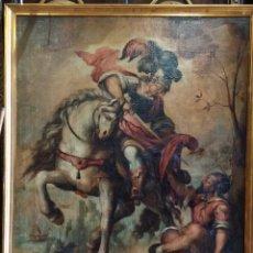 Arte: SAN MARTIN DESPOJANDOSE DE LAS VESTIDURAS SIGLO XVII 135X115. Lote 206868066