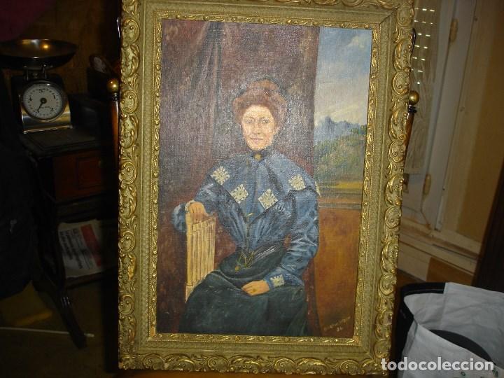 Arte: Bonito retrato de una mujer esta firmado de coleccion ver fotos - Foto 3 - 206920132