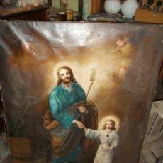 Arte: ANTIGUO CUADRO RELIGIOSO-JESUS CON UN NIÑO-SIGLO XIX. Lote 206944020