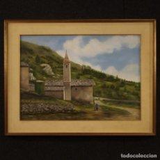 Arte: PINTURA DE PAISAJE DE CAMPO ITALIANO. Lote 206985947