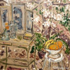 Arte: CONXITA BONCOMPTE COLL. OLEO SOBRE LIENZO DEL AÑO 1987. INTERIOR. Lote 206987843