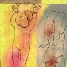Arte: CRISTINA ESCAPE (MALLORCA, 1961) TECNICA MIXTA TITULADA SUITE MALABARISTA. Lote 206988762