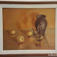 Arte: JOAN PARADIS PUIG, (FIGUERES 1941-2019), OLEO SOBRE TELA PEGADA A CARTON, (40X32). Lote 207002917