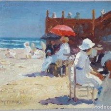 Arte: VILA Y PRADES JULIO ATTRIB.) (1873-1930) PINTOR ESPAÑOL. OLEO SOBRE TABLA. Lote 207033200