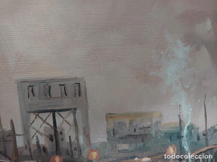 Arte: ÓLEO SOBRE LIENZO BARCAS PESQUERAS JOSEP VERDAGUER I COMA (1923-2008) - Foto 11 - 207039053