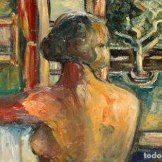 Arte: JOSEP ORIOL JANSANA (BARCELONA 1913- 1993) OLEO SOBRE TELA DE LOS AÑOS 50. DONA NUA A LA FINESTRA. Lote 207079705