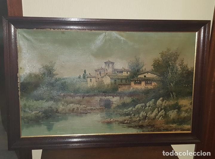 CUADRO PAISAJE FIRMADO POR E. MULES (Arte - Pintura - Pintura al Óleo Contemporánea )