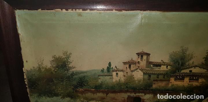 Arte: Cuadro paisaje firmado por E. MULES - Foto 3 - 207108051
