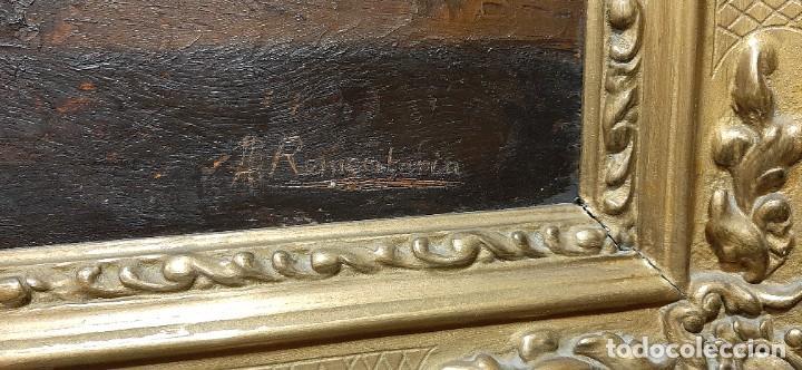 Arte: Bodegón de claveles. Enrique Rementería (1900-1980). - Foto 9 - 207141522