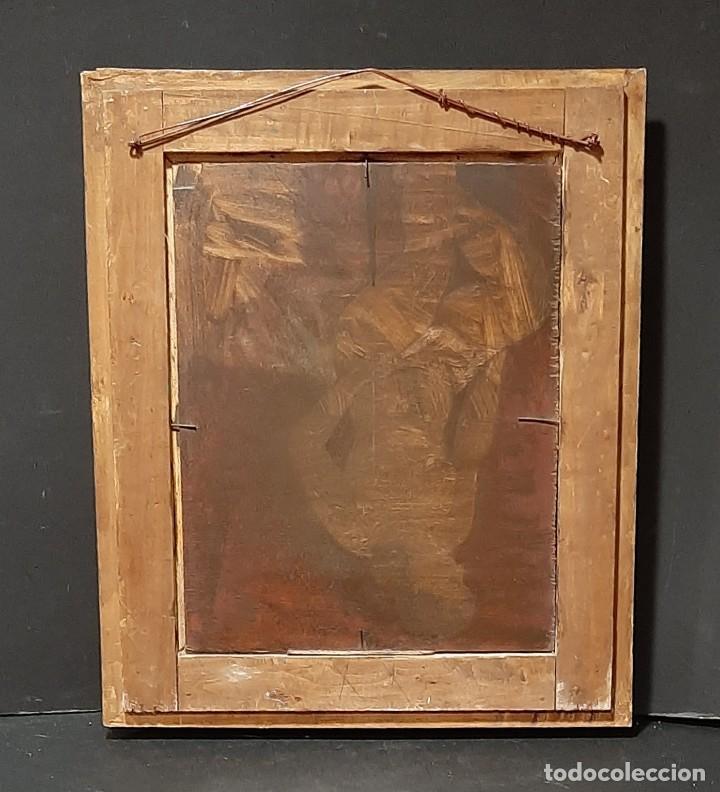 Arte: Bodegón de claveles. Enrique Rementería (1900-1980). - Foto 11 - 207141522