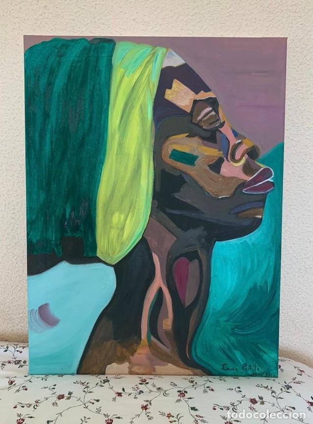 ÓLEO DE MUJER AFRICANA (Arte - Pintura - Pintura al Óleo Contemporánea )