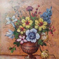 Arte: JARRÓN DE BELLAS FLORES. Lote 207201533