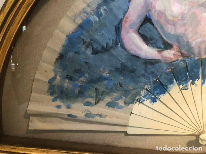 Arte: PRECIOSO OLEO SOBRE ABANICO DE LA PINTORA TERESA LLACER. DESNUDO. FIRMADO Y FECHADO 86. - Foto 4 - 207266398