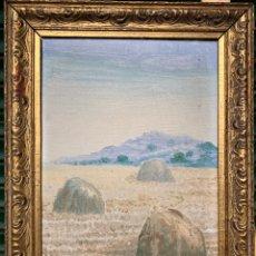 Arte: LA MOLA (SANT LLORENÇ DEL MUNT) CON PAJARES (GARBERES) SIN FIRMA, 25X34 CM OBRA.. Lote 207312485