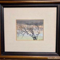 Arte: JORDI ANDREU FRESQUET (1940) BADALONA, TÉCNICA MIXTA, ÁRBOL ROTO, 16,5X12,5 CM OBRA.. Lote 207313877