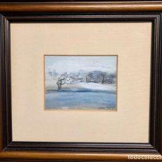 Arte: JORDI ANDREU FRESQUET (1940) BADALONA, TÉCNICA MIXTA, ÁRBOLES, 16,5X12,5 CM OBRA.. Lote 207314031