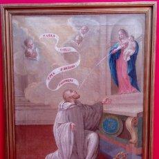 Arte: ÓLEO S/LIENZO -LA LACTANCIA DE SAN BERNARDO-. ESCUELA ESPAÑOLA S. XVII. DIM.- 74X56.5 CMS.. Lote 165127030