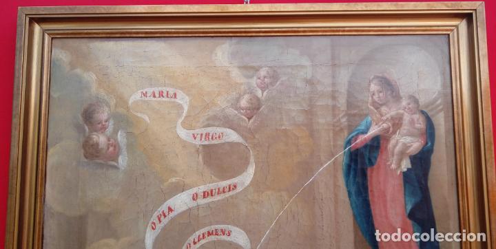 Arte: ÓLEO S/LIENZO -LA LACTANCIA DE SAN BERNARDO-. ESCUELA ESPAÑOLA S. XVII. DIM.- 74X56.5 CMS. - Foto 4 - 165127030
