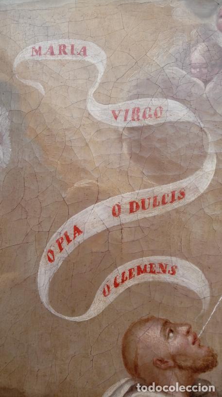 Arte: ÓLEO S/LIENZO -LA LACTANCIA DE SAN BERNARDO-. ESCUELA ESPAÑOLA S. XVII. DIM.- 74X56.5 CMS. - Foto 9 - 165127030