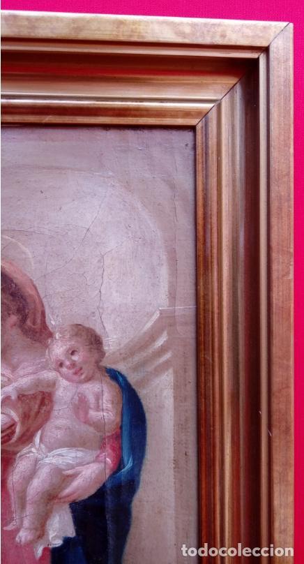Arte: ÓLEO S/LIENZO -LA LACTANCIA DE SAN BERNARDO-. ESCUELA ESPAÑOLA S. XVII. DIM.- 74X56.5 CMS. - Foto 16 - 165127030