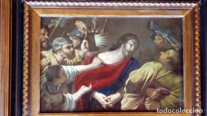 Arte: ÓLEO S/COBRE -PRENDIMIENTO DE JESÚS-. ESCUELA FLAMENCA S. XVII. DIM.- 56.5X44 CMS CON MARCO. - Foto 2 - 207385263