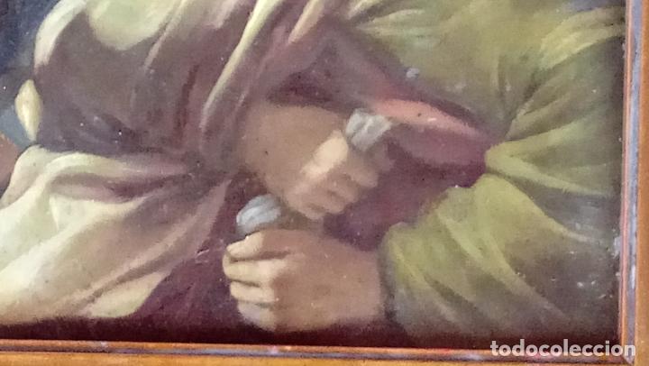 Arte: ÓLEO S/COBRE -PRENDIMIENTO DE JESÚS-. ESCUELA FLAMENCA S. XVII. DIM.- 56.5X44 CMS CON MARCO. - Foto 11 - 207385263