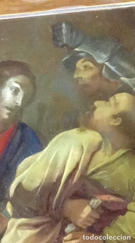 Arte: ÓLEO S/COBRE -PRENDIMIENTO DE JESÚS-. ESCUELA FLAMENCA S. XVII. DIM.- 56.5X44 CMS CON MARCO. - Foto 12 - 207385263