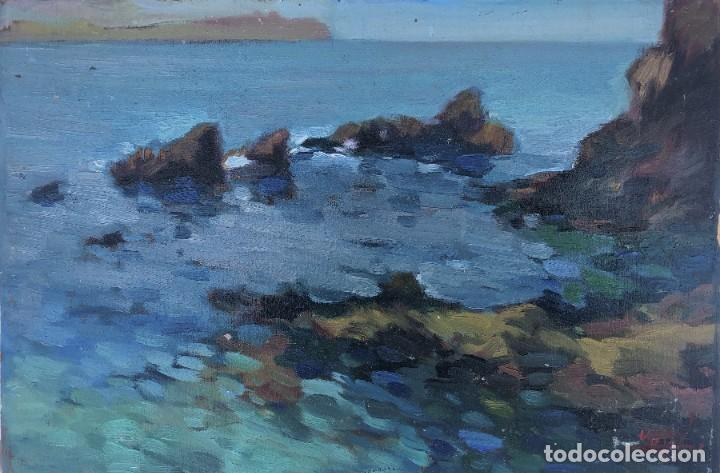 JOSEP MARFA GUARRO (1928-2014) - MARINA COSTA CATALANA - ÓLEO TABLA (Arte - Pintura - Pintura al Óleo Contemporánea )