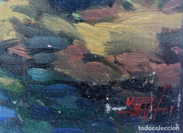 Arte: Josep Marfa Guarro (1928-2014) - Marina costa catalana - Óleo tabla - Foto 2 - 207467040