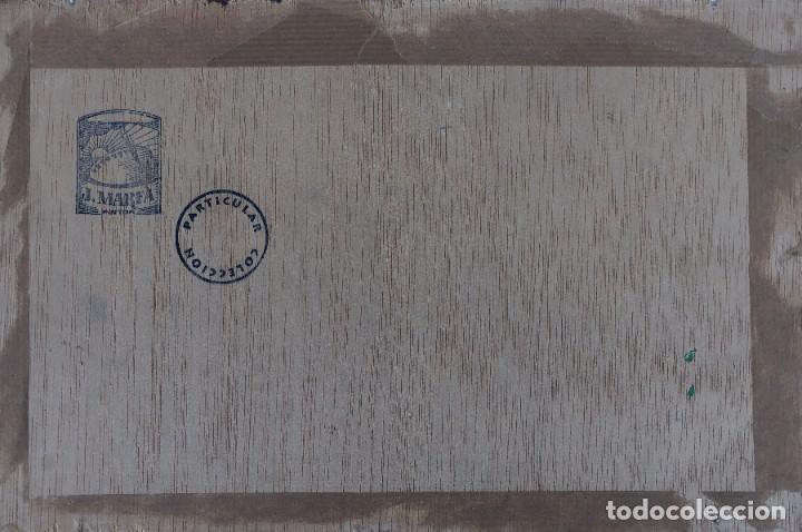 Arte: Josep Marfa Guarro (1928-2014) - Marina costa catalana - Óleo tabla - Foto 8 - 207467040